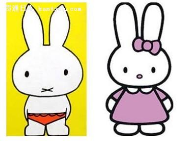 卡通可爱的米菲兔兔图片