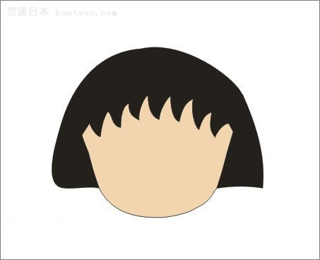 儿童头型矢量图