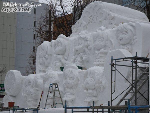 LoveLive μ s组合九人雪像齐聚札幌冰雪节