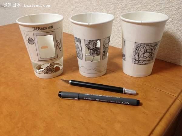 悟空大战弗利萨!达人用纸杯制作《龙珠》动图