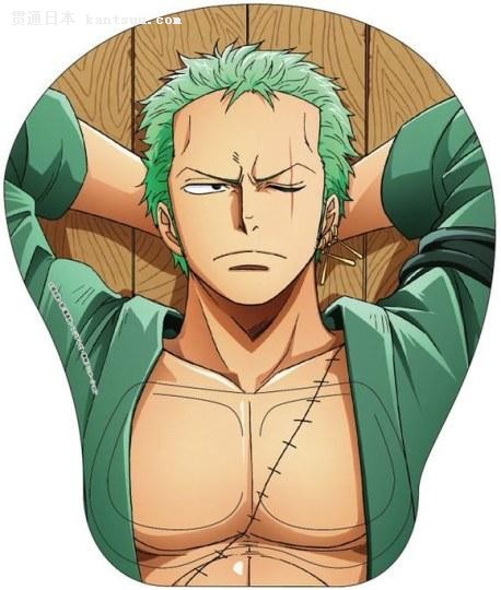 胸肌手感如何?《航海王》推出男性角色鼠标垫