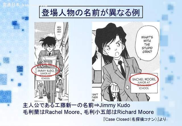 当《名侦探柯南》翻成英文版 新一瞬间变吉姆!