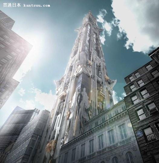 酷炫!美国建筑师设计最终幻想风摩天楼